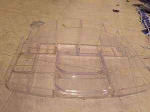 Acrylic organizer and q tip holder for Sale in Fontana, CA