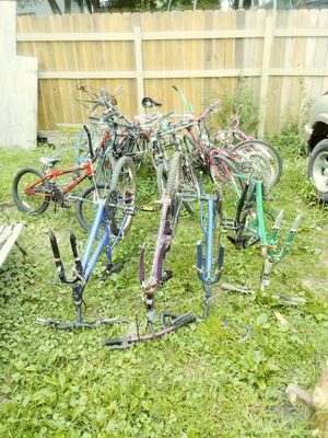 Bike lot: several complete bikes, bike frames and extra bike parts for Sale in Erie, PA