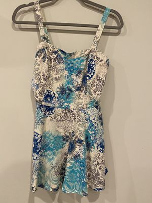 Charlotte russe blue green paisley print dress romper for Sale in Silver Spring, MD