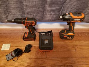 Rigid 1/2 Octane Impact Wrench and black Decker drill driver 20 volt Max for Sale in Valdosta, GA