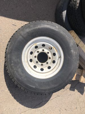 Trailer tires-8 lug- used condition- 235/85/16 as up its for sale for Sale in Phoenix, AZ