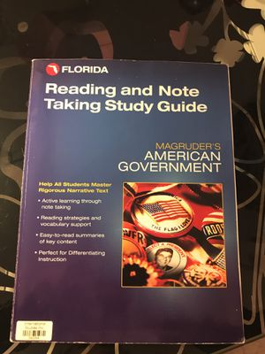 Reading and Note taking study guide American Government for Sale in Miami, FL