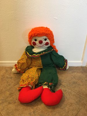 Raggedy Andy style Stuffed Clown (3 feet tall) for Sale in Mesa, AZ