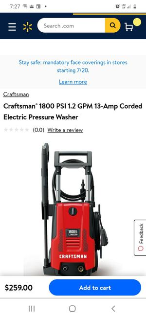 Electric Pressure washer for Sale in Hyattsville, MD