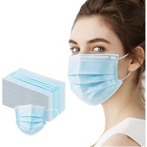 50 PCS Disposable Face Masks Protection 3 Ply Pollution Health Dust Filter Safety Face Mask with Adjustable Earloop, Nose Cover for Sale in Orlando, FL