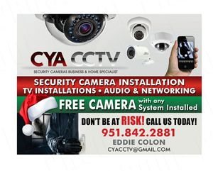 Holiday specials get a security camera system for you home or buiness for Sale in Redlands, CA