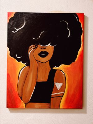 Afro girl painting. for Sale in Tamarac, FL