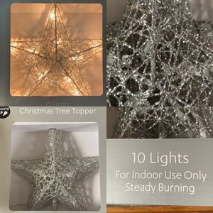 new in box light up christmas tree topper for Sale in Plano, TX