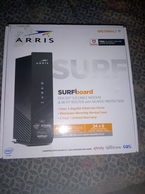 Arris surfboard ac2350 cable modem/wifi router for Sale in Saint Petersburg, FL