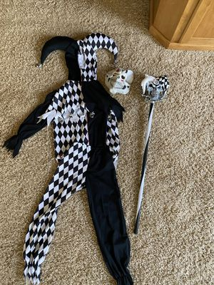 Scary Jester Costume with accessories Size Small boys for Sale in Temecula, CA