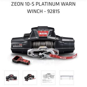Warn Winch ZEON 10-S Platinum for Sale in Los Angeles, CA