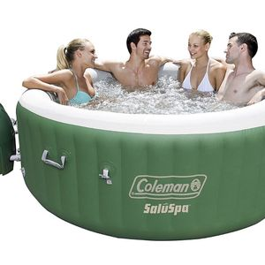 Coleman SaluSpa Inflatable Hot Tub Spa, Green & White for Sale in Scottsdale, AZ