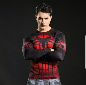 GYM SHIRT 🕷🕷🕷🕷🕷 Spiderman Men's Compression Long Sleeve Fitness GYM Workout running Base Layer Shirt🕷🕷🕷🕷🕷 for Sale in Fontana, CA