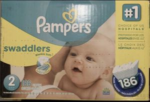Pampers Swaddlers Diapers Sz 2 186 ct New for Sale in Port Richey, FL