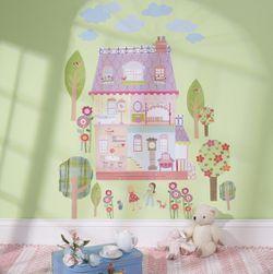WALLIES PLAY HOUSE dollhouse wall stickers MURAL *NIB* for Sale in Falls Church,  VA