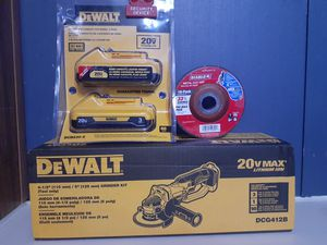 Dewalt grinder. batteries . 10 pack metal cut off diablo for Sale in Bryan, TX