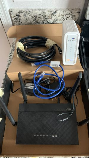 Asus router and modem for Sale in Glendale, AZ