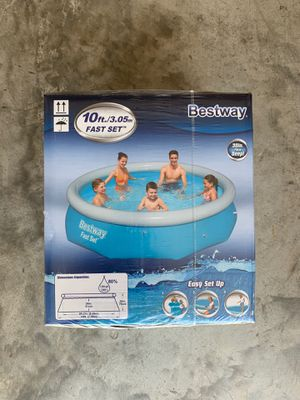 Bestway 10ft x 30in Fast Set (pump not included) for Sale in Sugar Land, TX