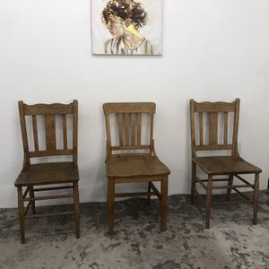 Vintage Solid Oak Chairs for Sale in Inglewood, CA
