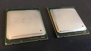 2 matching Intel Xeon E5-2660 v1 CPUs SR0KK (8 cores x2; Sandy Bridge; socket LGA2011) for Sale in Lynnwood, WA