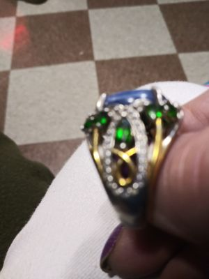 Sterling silver n Gold diamond and ruby ring for Sale in Boston, MA
