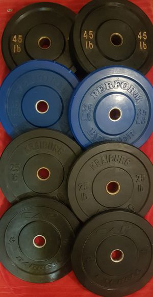 Crossfit bumper plates olympic weights for your home gym for Sale in San Diego, CA