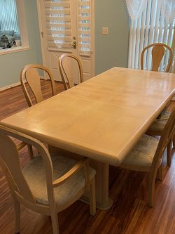 Large Dining Room Table + 6 Chairs And Etage for Sale in Brandon,  FL