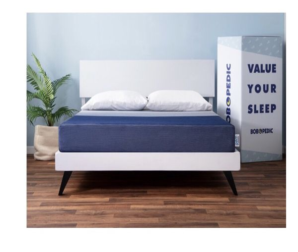 Platform bed frame with full mattress - used only 8 months - moving sale