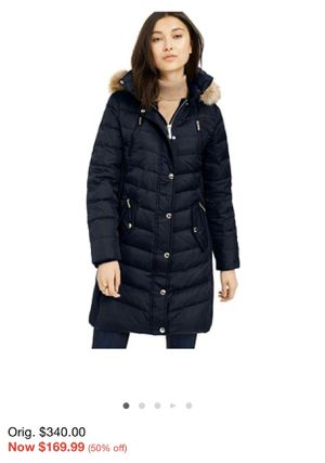 New w/tags faux fur Michael Kors Navy Puffer with detachable Fur Hood for Sale in Spring Hill, FL