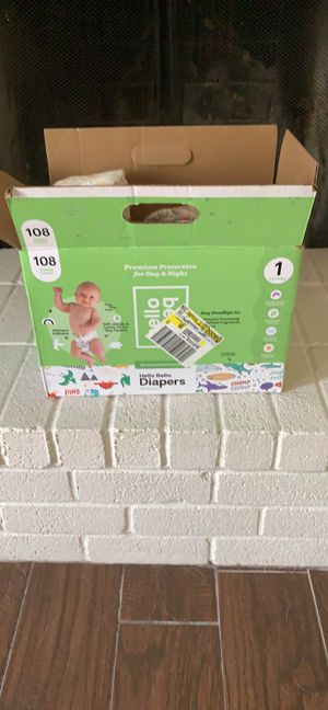 Hello Bello Diapers size 1 (pending pick up) for Sale in Saginaw, TX
