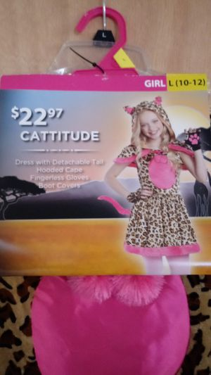 "Halloween Costume size Girl L (10-12). ""Cattitude"" Dress for Sale in Columbus, OH"