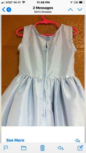 Light Blue Flower Girl Dress w/Cascade & Roses (size - 5-6) for Sale in Norristown, PA