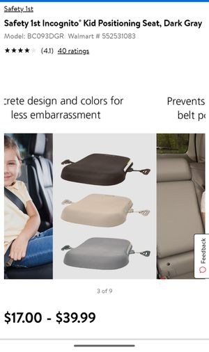 Safety 1st incognito booster seat for Sale in San Antonio, TX