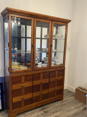 Dining Room Table with 6 chairs and China Cabinet Set for Sale in Bonsall, CA