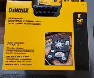 DEWALT SAW BLADES DADO CUTS for Sale in Burlington, NJ