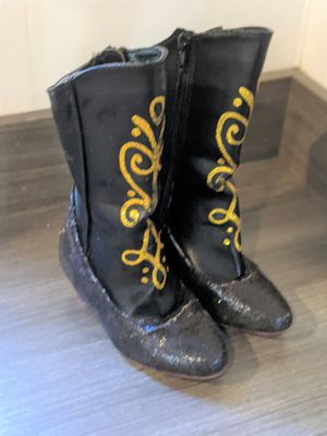 Disney Collection Frozen Anna Costume Boots Girls - Size 9/10 for Sale in Vista, CA