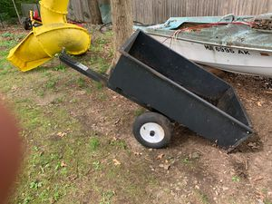 Atv or ride on lawn mower dump trailer for Sale in Needham, MA