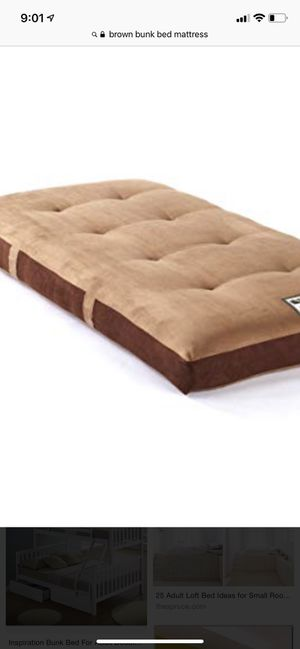 Full size brown bunk bed mattress for Sale in Washington, DC