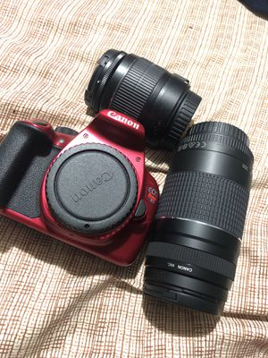 Canon t5 with extra lense for Sale in Houston, TX
