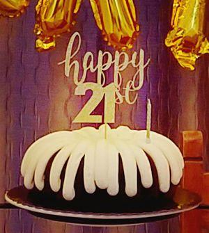 Happy 21st Cake Topper for Sale in Murrieta, CA