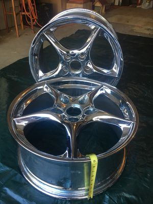 2 Chromed Rims mount 225/40R18 for Sale in Fairfax, VA