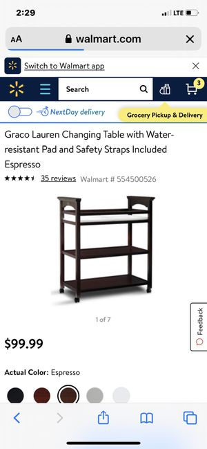Changing table like new for Sale in Cape Coral, FL