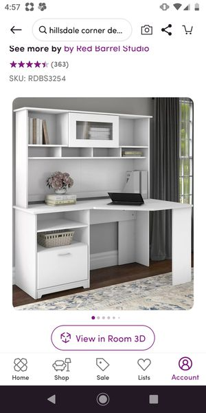 Reversable corner desk desk with hutch - espresso color for Sale in Orlando, FL