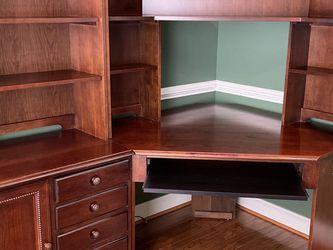 Corner Home Office Desk With Book Shelves for Sale in Ashburn,  VA