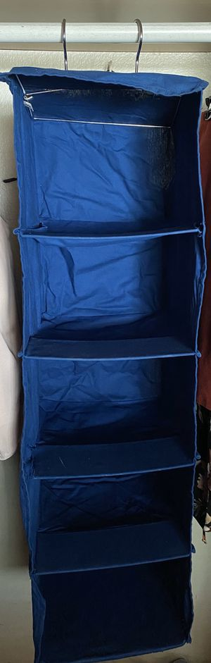 5 Compartment Hanging Closet Organizer for Sale in Riverside, CA