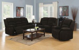 2PC RECLINER LIVING ROOM SET: RECLINER SOFA AND LOVE SEAT--CHOCOLATE for Sale in McClellan Park, CA