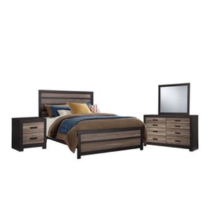 •Limited Time••🌟🌟 ASHLEY FURNITURE BEDROOM SET: CAL KING BED FRAME+ NIGHTSTAND+ DRESSER WITH MIRROR+ 2 SPRINGBOX 🌟🌟 for Sale in Los Angeles, CA