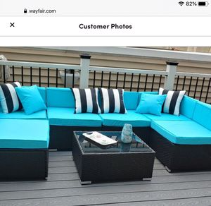 New!! Sectional set, porch set, balcony set, conversation set, 7 pc pc coffee table outdoor sectional set, garden furniture, outdoor sectional set for Sale in Phoenix, AZ