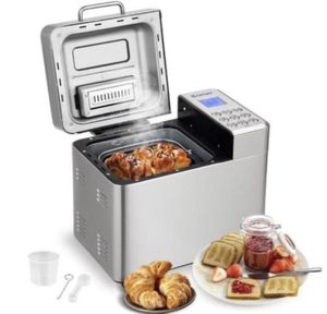 New 2 Lb Stainless Steel Automatic Bread Maker Programmable Bread Machine for Sale in Rancho Cucamonga, CA
