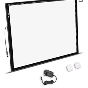 A2 Light Box Light Pad Aluminium frame Super Thin 5mm/0.2inches Touch Dimmer 20W Super Bright LED 12V 2A Adapter for Sale in Riverside, CA